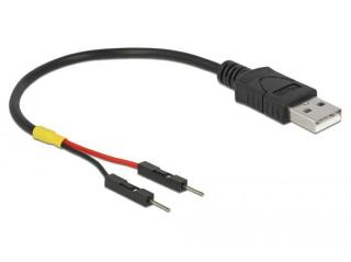 DELOCK USB Power Cable Type-A to 2 x pin header male separate power 10 cm (85400)