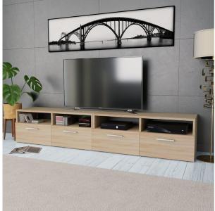 TV-benk 2 stk sponplater 95x35x36 cm eik -