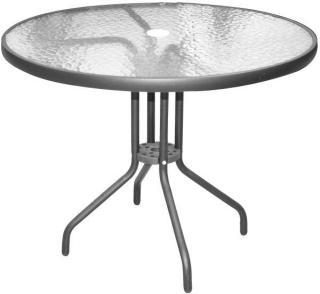 Bord koksgrå alu./stål, Ø:90 cm