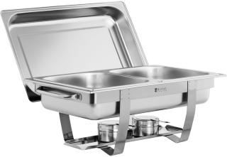 Royal Catering Varmefat - 2x GN 1/2 - 11 L - 2 beholdere for brennpasta