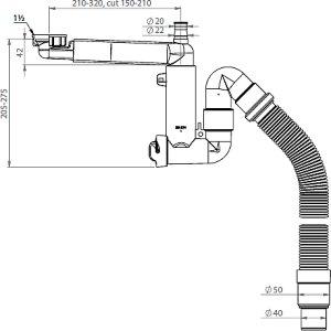 Franke Universal Vannlås 32/40/50 mm, Plast