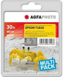 AGFAPHOTO 4-pack - svart, gul, cyan, magenta - compatible - gjenfabrikert - blekkpatron (alternativ for: Epson 18XL, Epson T1816, Epson C13T18164010) (APET181SETD)