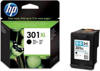 HP Blekkpatron No.301XL Sort Høykapasitet (8ml) CH563EE (Kan sendes i brev)
