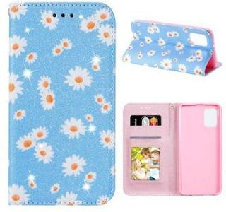 Daisy Pattern Samsung Galaxy A31 Lommebok Deksel - Blå