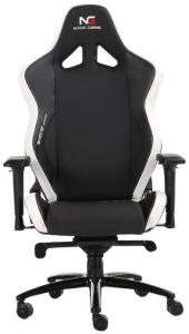 DCS Nordic Gaming Heavy Metal Gaming Chair Black White (WN6608-WHBK)