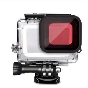 Vanntett skall GoPro Hero5, Hero6, Hero 2018, Hero7 Svart med rødt filter