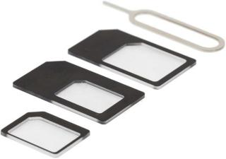 DELTACO SIMkortadapter for micro/mini/nano-sim