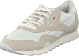 Reebok Classic CL NYLON White/Light Grey, Sko, Sneakers og Treningssko, Sneakers, Hvit, Dame, 41