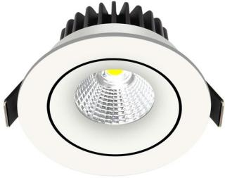 Nordtronic Velia Tilt LED Downlight 230V 10.9W 3000K 5704629000049