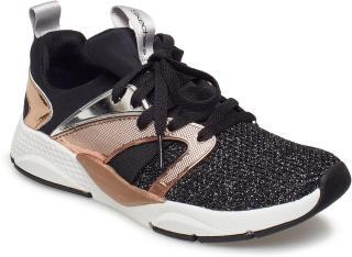 Skechers Girls Shine Status Sneakers Sko Svart Skechers