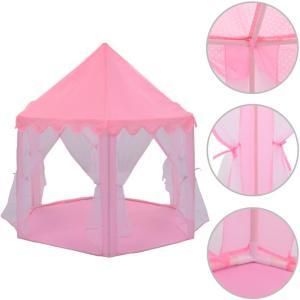 vidaXL Prinsessetelt rosa