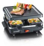 Severin Raclette 4 pers. 600 watt Sort