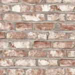 DUTCH WALLCOVERINGS Veggpanel murstein rød EW3102