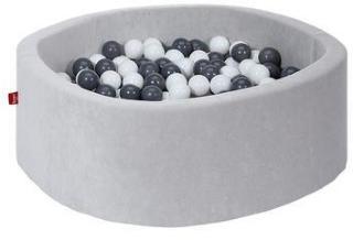 knorr® leker ballbad mykt - Grått inkludert 300 baller grått / krem