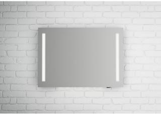 Linn Bad Fosse speil m/LED-lys 100x70 cm, med dimmer og stikkontakt