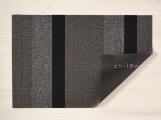 Chilewich Dørmatte Bold Stripe Silver/Black Stor