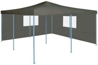 vidaXL Sammenleggbar paviljong med 2 sidevegger 5x5 m antrasitt