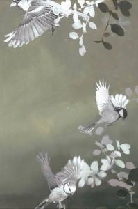 Malerifabrikken Poster Bird 4 Unisex Grønn