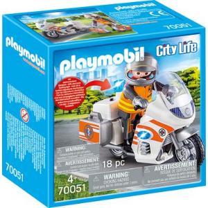 PLAYMOBIL® City Life akuttlege motorsykkel med blinkende lys 70051