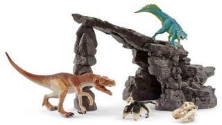 Schleich Dino-sett med hule 41461