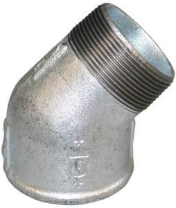 Galvanisert Vinkel muffe/nippel 1