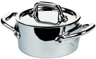 Mauviel Cook Style gryte med stållokk mini stål - 30 cl