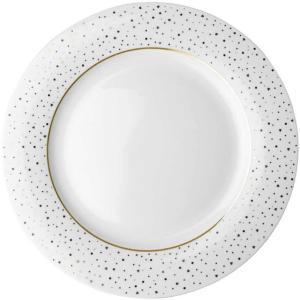 Middagstallerken 26cm. porselen  White Sparklin Loft