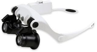 Forstørrelsesbriller x25 med LED