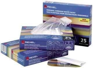 Rexel AS100 avfallsposer i plast til makulator (40 l) 13225