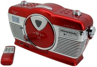 Soundmaster Retro CD Radio Röd