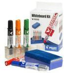 Pilot Whiteboard-sett med fem penner, penneholder og magneti 666301 (Kan sendes i brev)