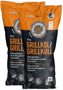 Felleskjøpet grillkull 2 stk à 10 kg
