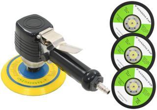 vidaXL Eksentersliper luft med håndtak og slipeskiver 150 mm