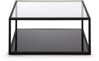 La Forma Greenhill Sofabord 80 cm - Glass/Svart