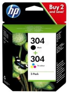 HP Blekkpatron Pakke No.304 Sort/3-Farge (4ml/2ml) 3JB05AE (Kan sendes i brev)