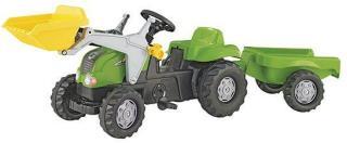 Rolly Toys Tråtraktor Grønn Med henger og frontlaster