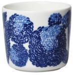 Marimekko Mynsteri kaffekopp uten håndtak, hvit/blå