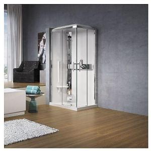 Novellini Glax 3 A Dusjkabinett 90x90 cm, m/tak, Klart glass/Krom