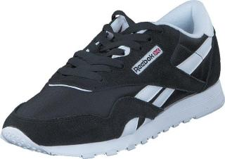 Reebok Classic CL Nylon Black/White, Sko, Sneakers og Treningssko, Sneakers, Svart, Dame, 41