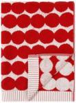Marimekko Räsymatto håndkle 50x100, hvit/rød