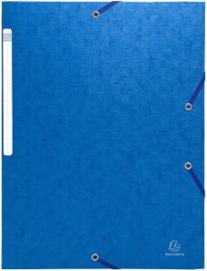 Exacompta Strikkmappe A4 3 kl 600g blå 55952E (Kan sendes i brev)