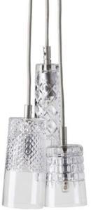 Ebb & Flow Edgar, bates, sybil taklampe - Crystal, sølv