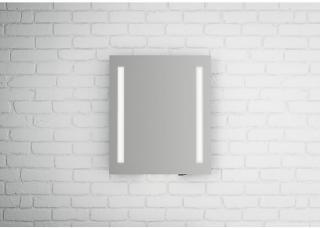 Linn Bad Fosse speil m/LED-lys 60x70 cm, med dimmer og stikkontakt