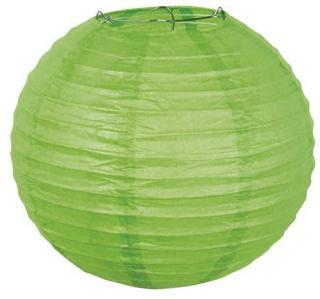 Boland Grønn Rund Papirlanterne - Grønn fargetema