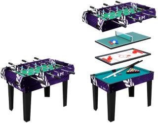 4 i 1 spillebord - airhockey, biljard, bordtennis og fotballspil