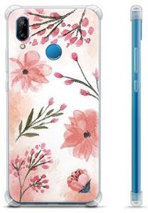 Huawei P20 Lite Hybrid-deksel - Rosa Blomster