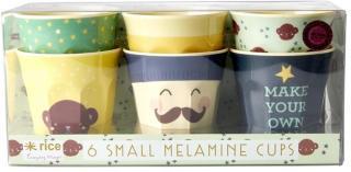 Rice 6-Pack liten kopp i melamin med ape