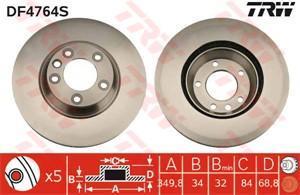 Bremseskive, Framaksel, Framaksel venstre, Venstre (AUDI,VW )