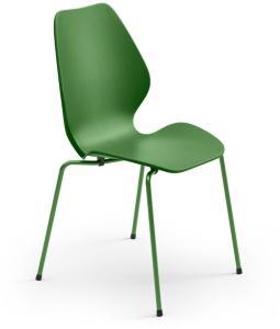 Fora Form City Stol Plast, Farge: Medium Grønn, Understell: Medium Grønn