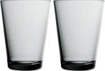Kartio glass 40 cl 2-pk grå Iittala